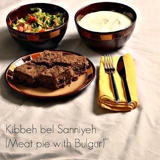 Kibbeh bel Sannieyh (Meat pie with Bulgur)