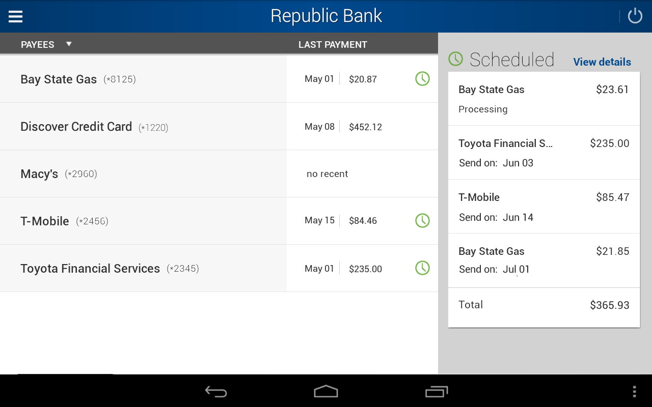 Republic Bank Mobile Banking- screenshot