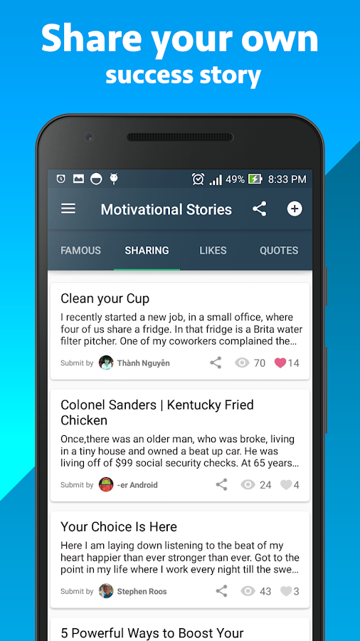 Best Motivational Stories- screenshot