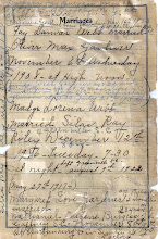 Photo: Webb Famiy Register continued from Madge Webb Riley bible 3-4, (Marriages)