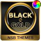 Black & Gold Theme for Xperia icon