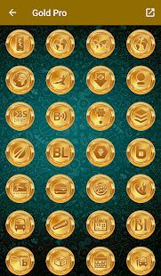 Gold Pro - Icon Pack Screenshot