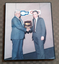 Photo: SteveCook (he ran the dealership back in the 70's) receiving a National Dealer Award