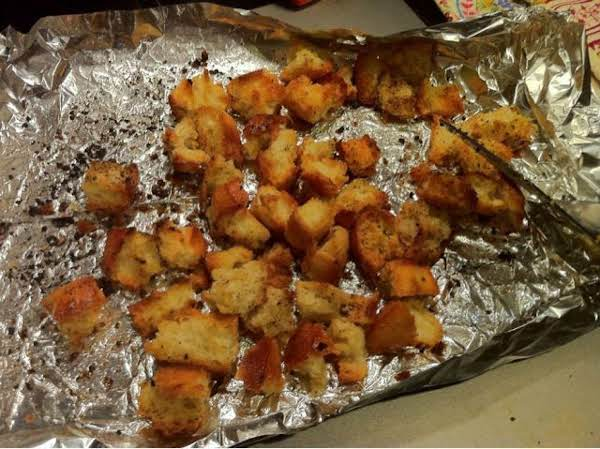 Easy Oven Croutons Recipe