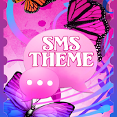 Theme Butterflies GO SMS Pro