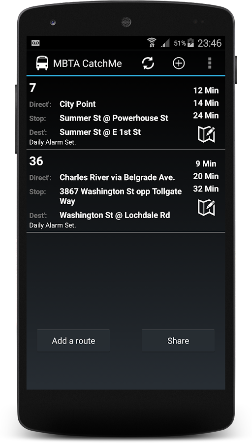 MBTA Boston Maps & Bus Alerts - screenshot