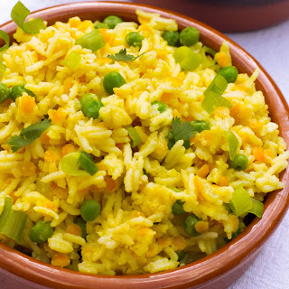 Indian Saffron Yellow Rice Pilaf