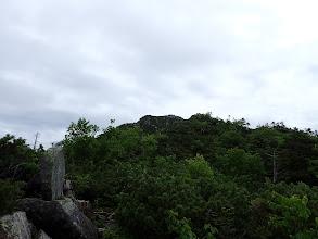 前方に木曽前岳