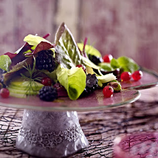Green Salad with Fresh Fruit and Nuts.