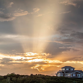 Rays of Light by Angela Moore - Landscapes Sunsets & Sunrises ( clouds, colorful, sunset, rays )