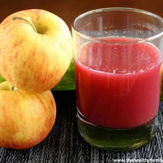 Cucumber Apple and Beet Juice (Raw, Vegan, Gluten-Free, Dairy-Free, Paleo-Friendly, No Refined Sugar).