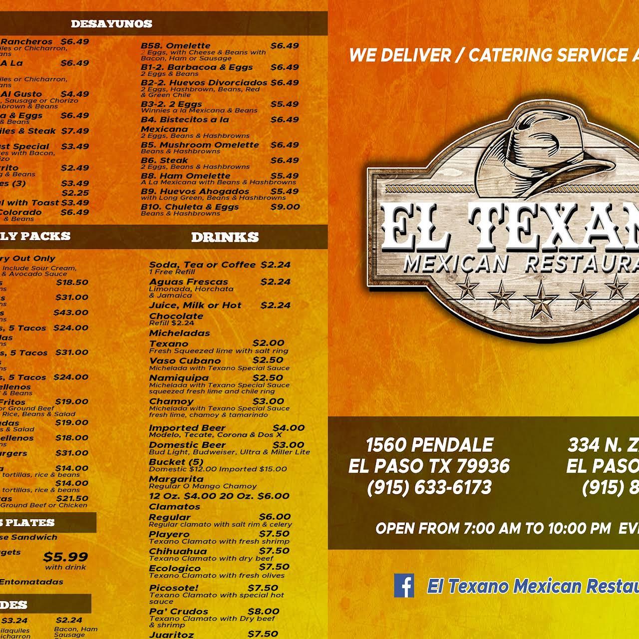 El Texano Mexican Restaurant Mexican Restaurant In El Paso