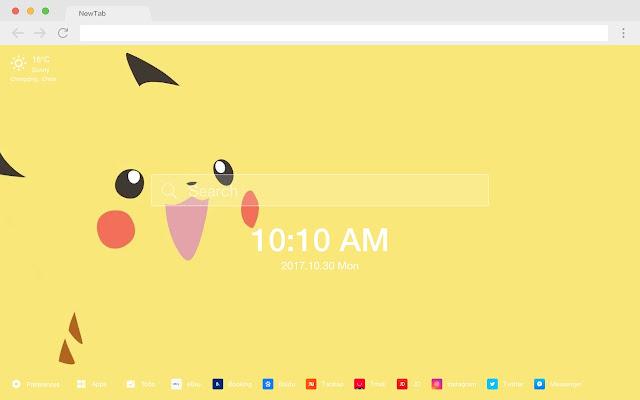 Pikachu HD New Tabs Popular Anime Topics