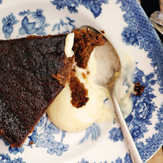 Ginger Cake with Spiked Custard.