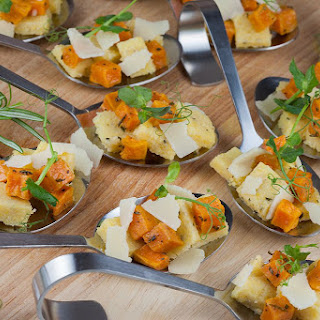 Polenta and Sweet Potato Appetizers Recipe