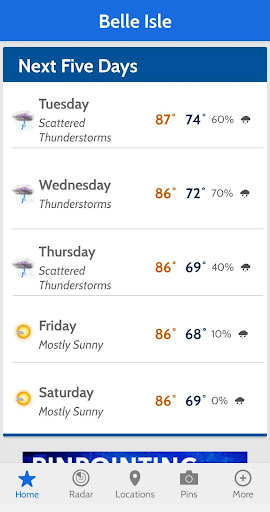 News 6 Pinpoint Weather screenshot 5