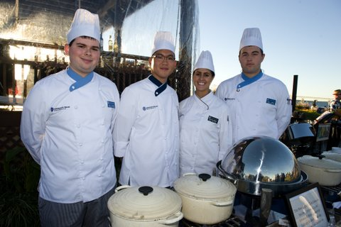 Photo: Johnson & Wales students prepare dinner