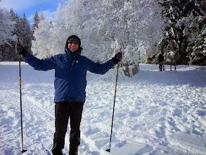 Photo: ,Neuschnee am Neujahrstag, Frank jubelt