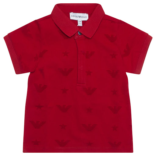 Primary image of Emporio Armani Velvet Logo Polo Top