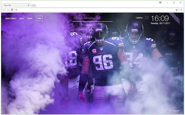 Minnesota Vikings HD Wallpaper NFL New Tab