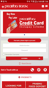 Prabhu Mobile Banking - náhled