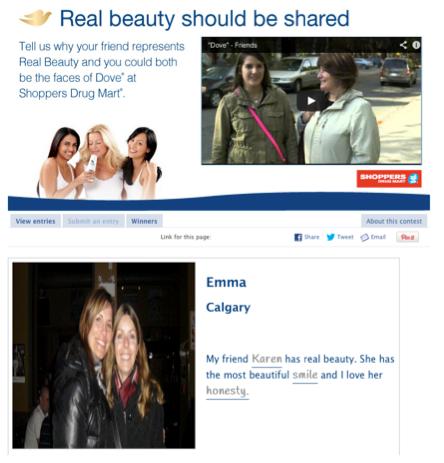 Dove Beauty Contest Example