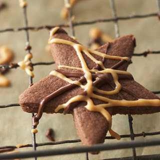 Chocolate-Peanut Butter Shortbread Bites