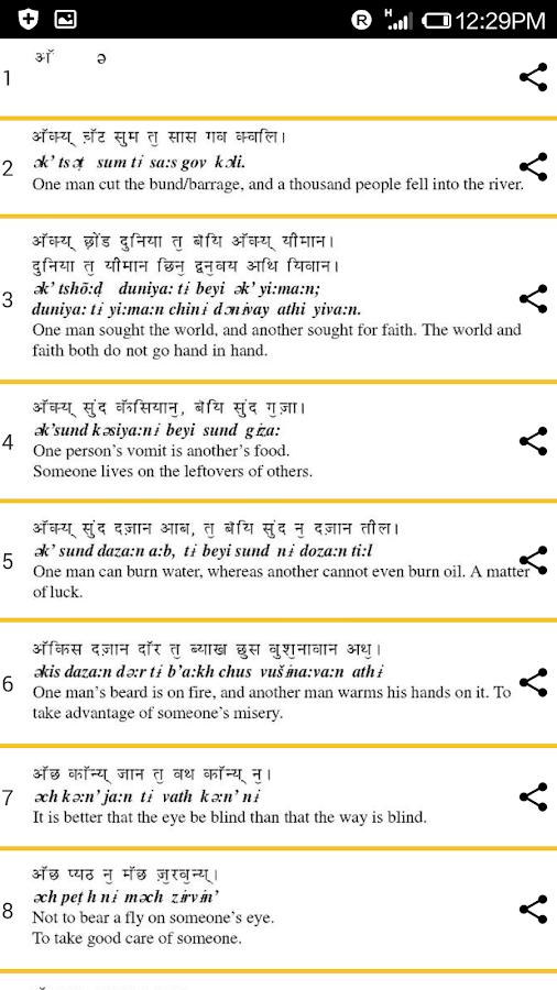 Kashmiri Dictionary - screenshot