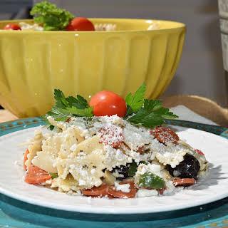 Pasta Salad with Artichoke Hearts & Feta.