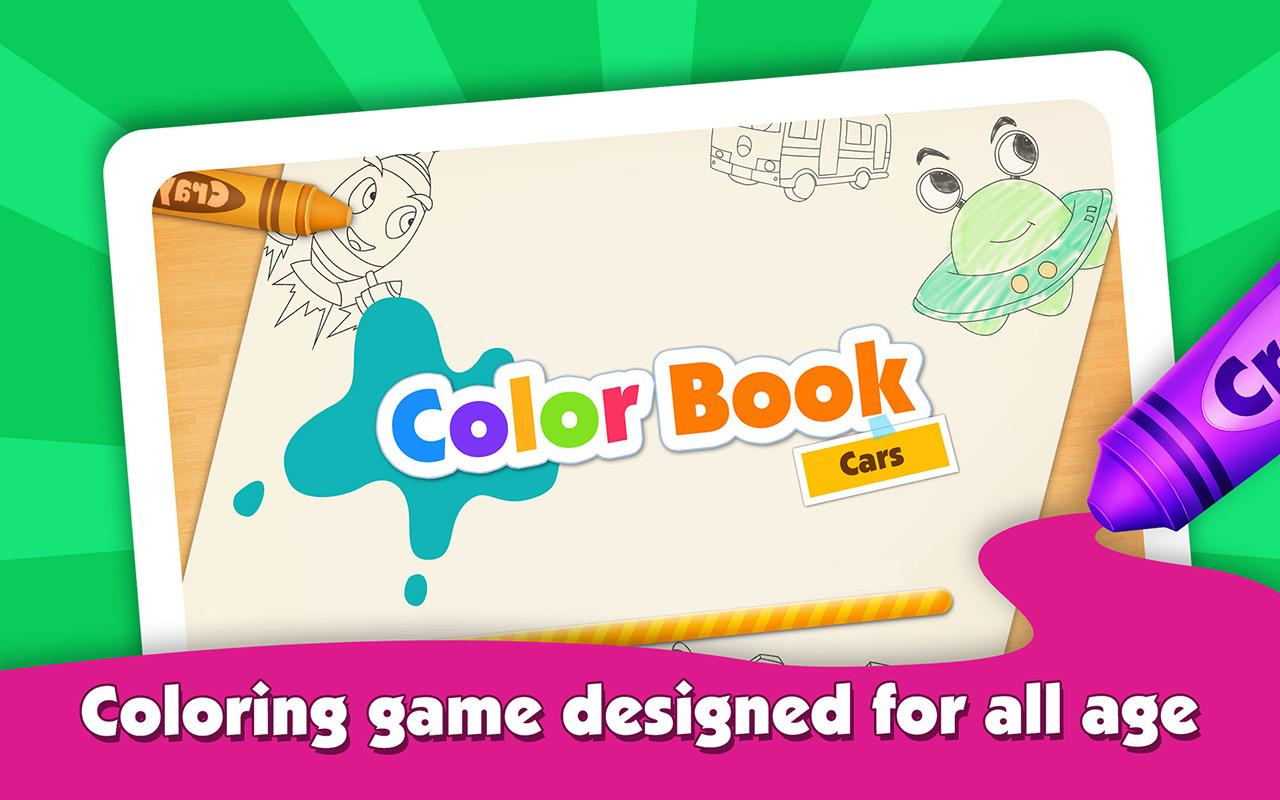 kids color book my first cars screenshot - Color Book For Kids