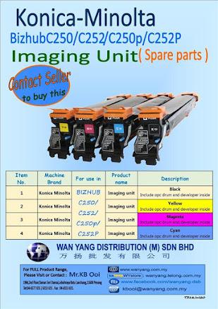 Konica Minolta Bizhub C250/C252;C250/C252p Imaging Unit( Spare parts )