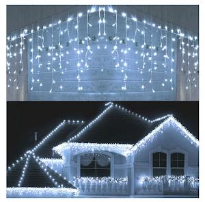 Instalatie tip franjuri, 15 metri, 300 LED, interconectabila