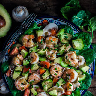 Spinach Salad with Shrimp and a Smoky-Sweet Dressing