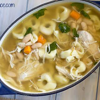 Crock Pot Chicken Tortellini Soup.
