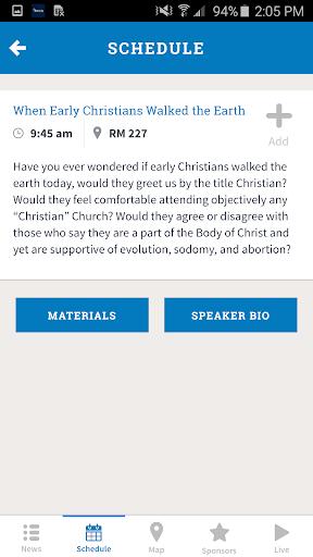 NCCA 2016 App Screenshot