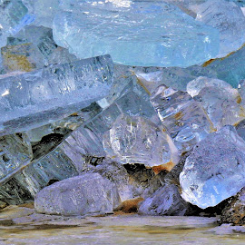 Winter's Gems by Kathy Woods Booth - Nature Up Close Other Natural Objects ( blue, gems, frozen, ice, shiny, icy, sparkle' )