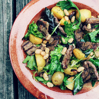 Steak Salad with White Beans and Potatoes