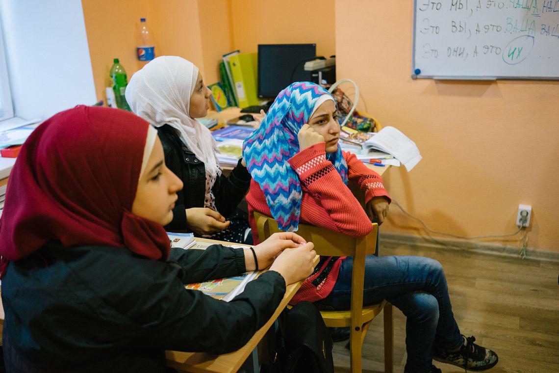 enfants syriens russie moscou