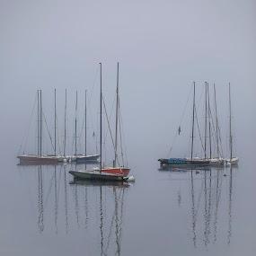 Morning reflection by Mark Per - Transportation Boats ( water, lake, morning, sailboat )