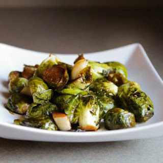 Roasted Teriyaki Brussels Sprouts.