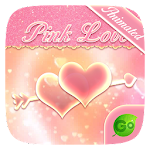Pink Love GO Keyboard Animated Theme
