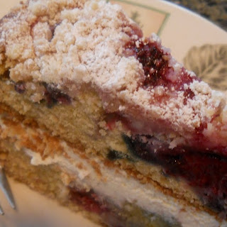 Lemon Berry Mascarpone Cake.
