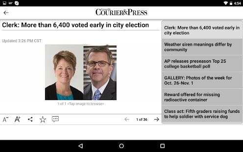 Evansville Courier & Press- screenshot thumbnail