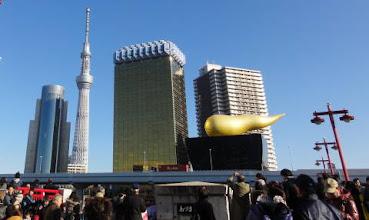 Photo: 2012年01月05日 浅草  今年も初詣に 吾妻橋も賑わいが!