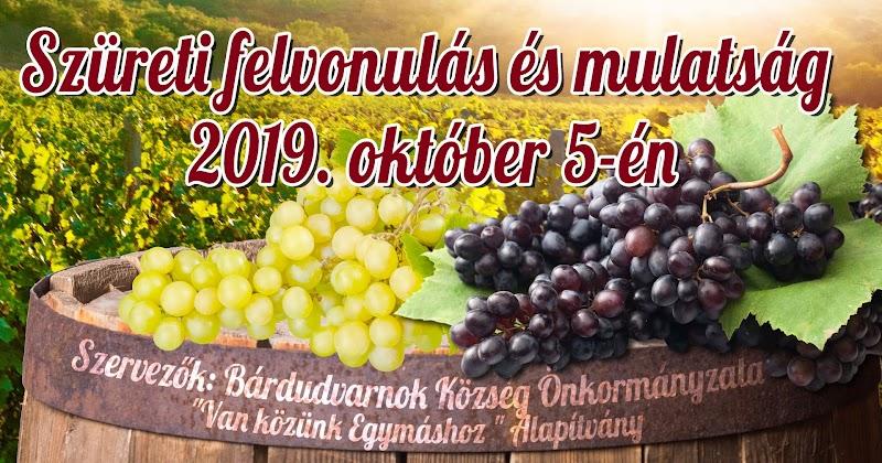 Szüreti felvonulás és mulatság 2019. október 5-én