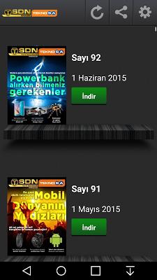 SDN Magazin - Ücretsiz - screenshot