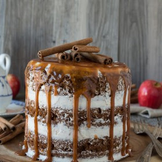 Apple Spice Cake with Caramel Drizzle