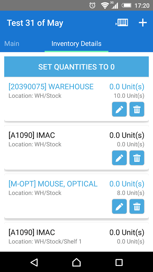 mERP Warehouse- screenshot