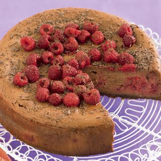 Chocolate-Raspberry Cheesecake.