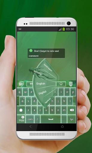 绿色的喜悦 GO Keyboard|玩個人化App免費|玩APPs